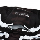 NUCKILY NJ513 Cycling Polyester Short Sleeve Riding Jersey for Men - Black + White (Size XL)