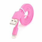 USB to 8-Pin Lightning Data / Charging Flat Cable for iPhone 5 / iPad 4 / iPad Mini - Pink