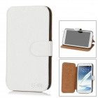 GOWE Protective PU Leather Case for Samsung Galaxy Note II N7100 - White