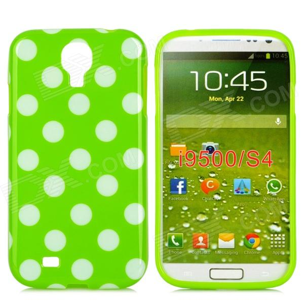 Polka Dot Style Protective TPU Back Case for Samsung Galaxy S4 i9500 - Green + White ноутбук hp 15 ay514ur y6f68ea intel n3710 4gb 500gb 15 6 win10 red