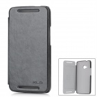 KALAIDENG Protective PU Leather Case for HTC New One / M7 - Black