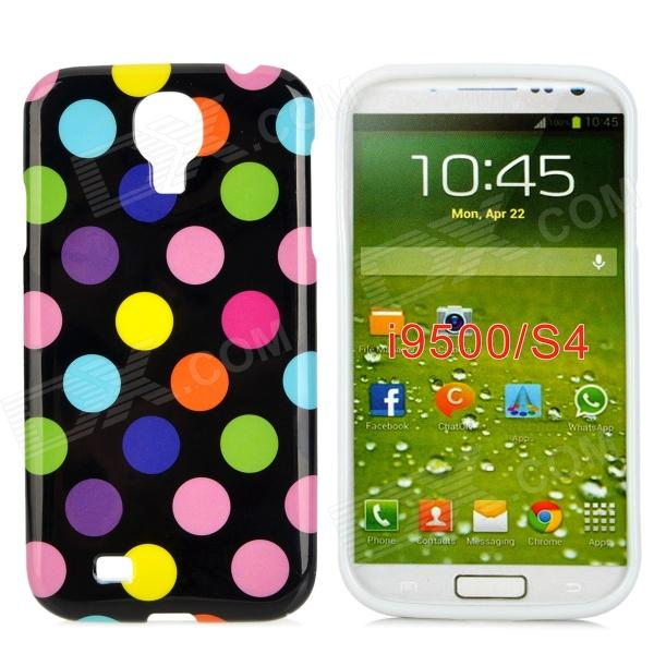 Polka Dot Style Protective TPU Back Case for Samsung Galaxy S4 i9500 - Black + Multicolor protective cute spots pattern back case for samsung galaxy s4 i9500 multicolored