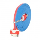 SHUS-21 USB Male to 30 Pin Charging Data Cable for iPhone 4 + iPad 3 + iPad 2 - Red + White (300CM)