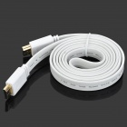 1080p 3D HDMI V1.4 Male to Male Flat Connection Cable - White (145cm)