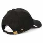 Outdoor Sports Fishing Canvas Peaked Cap Sunbonnet - Black