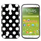 Polka Dot Style Protective TPU Back Case for Samsung Galaxy S4 i9500 - Black + White