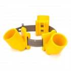MDK 40mm 3-Cup Trees Protection Bandage Holder - Yellow + Brown