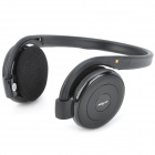 B-730 Stylish Sports Rechargeable MP3 Player Stereo Headphone w/ FM / TF Slot - Black