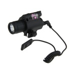 BOB-JGSD 5mW Gun LED-Taschenlampe & Red Laser Scope - Schwarz (2 x CR123A)