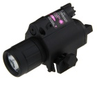 BOB-JGSD 5mW Gun LED Flashlight & Red Laser Scope - Black (2 x CR123A)