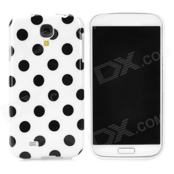 Polka Dot Style Protective TPU Back Case for Samsung Galaxy S4 i9500 - White + Black handpainted cactus and polka dot printed pillow case