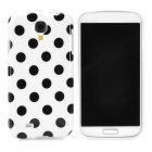 Polka Dot Style Protective TPU Back Case for Samsung Galaxy S4 i9500 - White + Black