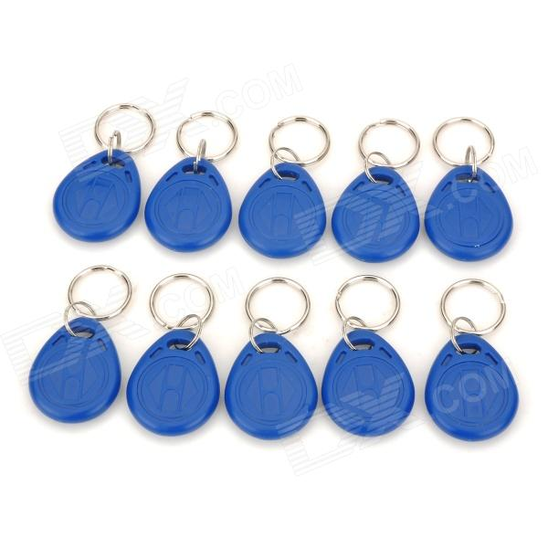 RF ID Proximity Token Tag Key Keyfobs Keychain - Blue + Silver (10 PCS)Other Security Products<br>Form  ColorBlueMaterial:Power SupplyOthersPower AdapterOthersPacking List<br>