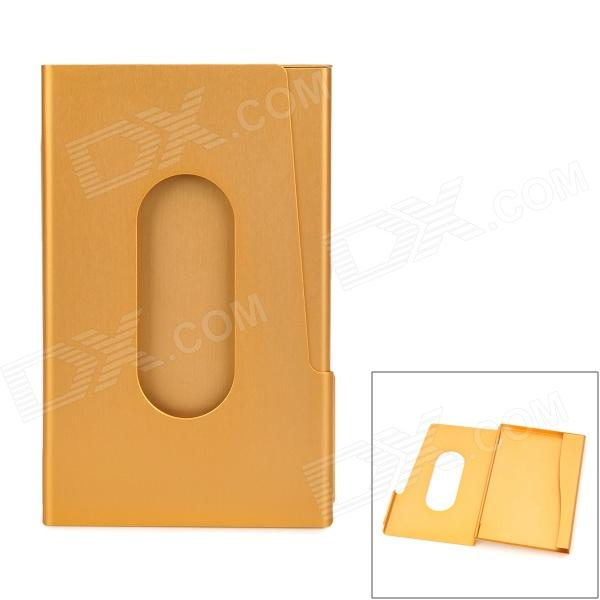 Aluminum Alloy Business Name Card Holder Case - Golden подушка декоративная la pastel la pastel mp002xu00xtm
