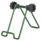Folding Mini Aluminum Alloy Desktop Holder for iPad Mini / iPhone + More Phone - Green