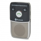 Solar Power / Car Charger Rechargeable Bluetooth 2.1 + EDR Speakerphone Handsfree Car Kit - Black