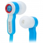 GENIPU GNP-82 Flat Cable Stereo In-Ear Earphones - Blue + White (3.5mm Plug / 113cm-Cable)