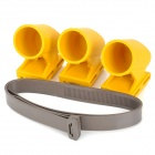Protective Synthetic Resin Garden Tree Bracket Tie w/ Three Holder Cups - Yellow + Brown