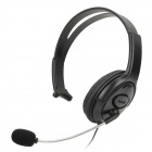 Single Headphone w/ Microphone for Xbox 360 / Xbox 360 Slim - Black