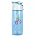 Yaqi YQ-9254 PC Water Bottle Cup - Translucent Blue + White (600ml)