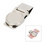 Mirror Surface Stainless Steel Money Clip Card Holder - Silver