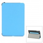 Multifunction PU Leather Amplifying Cooling Case for Ipad MINI - Blue + Black