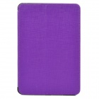 Multifunction PU Leather Amplifying Cooling Case for Ipad MINI - Purple + Black