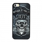P5-0.6-012 Protective 3D Skull Head Style Back Case for iPhone 5 - Black