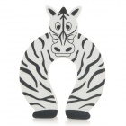 Cute Zebra Pattern Baby Safety Door Stopper Finger Pinch Guard - Black + White