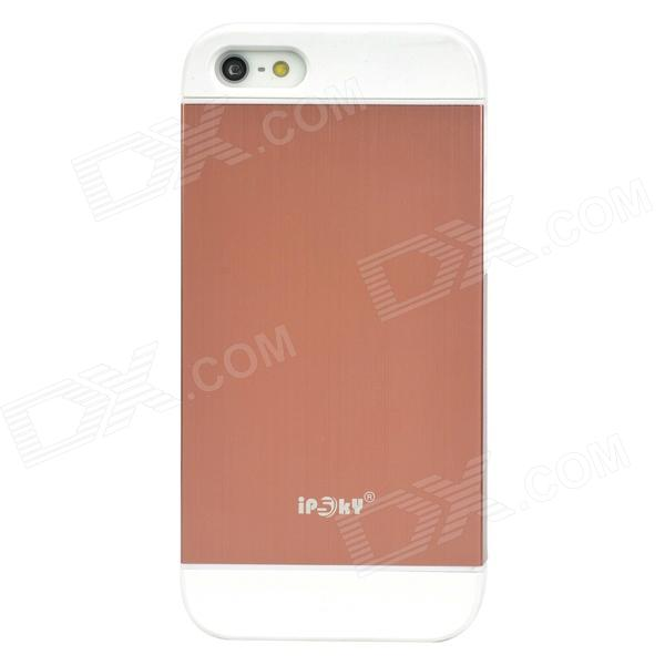 IPSKY Cool Style Detachable Back Case for Iphone 5 / 5s - White + Reddish Brown