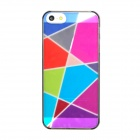 ITOP Grid Pattern Protective PVC Back Case w/ Screen Protector for Iphone 5 - Multicolored