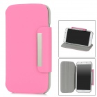 Protective Rotatable Case w/ Stand for Samsung Galaxy S4 i9500 - Pink + Grey
