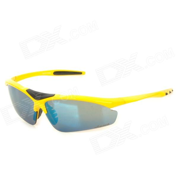 ACACIA 13131103 Shooting Cycling Skiing Goggles w/ Replacement Lens + Pocket - Yellow