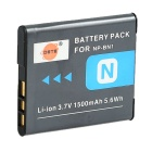 DSTE NP-BN1 Li-ion 3.7V 1500mAh Battery w/ Adapter for Sony DSC-W / QX100 / QX10 / QX30 - Black