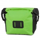 Water Sport Protective Nylon Waterproof Bag w/ Buckle - Fluorescence Green + Black (20L)