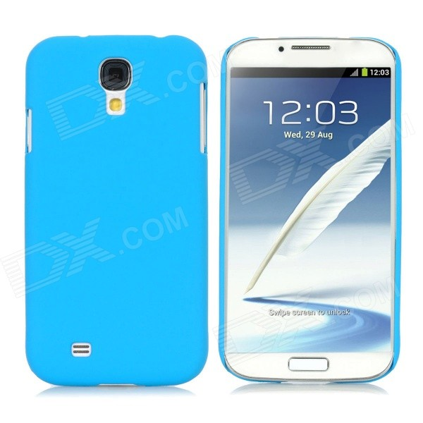 Protective Ultra-Slim PC Back Case for Samsung i9500 / S4 - Sky Blue protective hollow out matte pc back case for samsung galaxy s4 zoom sm c1010 blue