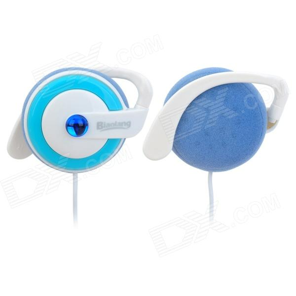ChenGuang ADG98027 Mega Bass Ear Hook Headset Headphones - Light Blue + White (3.5mm Plug)