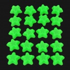 Five-pointed Star Style Silicone Cake Chocolate Molds - Grass Green (20 PCS)