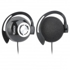 ChenGuang ADG98093 Mega Bass Ear Hook Headset Headphones - Black + Silver (3.5mm Plug / 120cm-Cable)