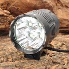 RUSTU D44S 1200lm 4-Mode White Bicycle Light w/ 4 x Cree XM-L T6 - Grey (6 x 18650)