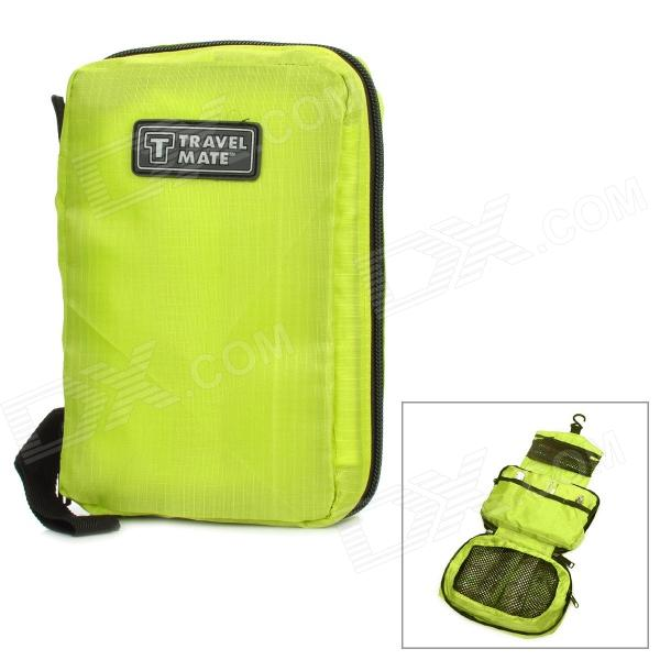TRAVEL MATE Nylon Travel Camping Toilet Articles Wash Bag - Green