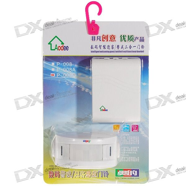 Aodee PIR Motion Activated Wireless Door Bell (32-Melody Choice)