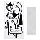 Aomei Street Lamp Pattern Home Wall Decoration PVC Paper Sticker - Black (60 x 30cm)