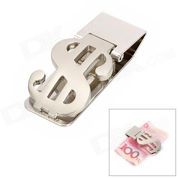 US Dollar Symbol Design Stainless Steel Money Cash Clip - Silver diy stainless steel motor universal coupling silver 4 x 4mm