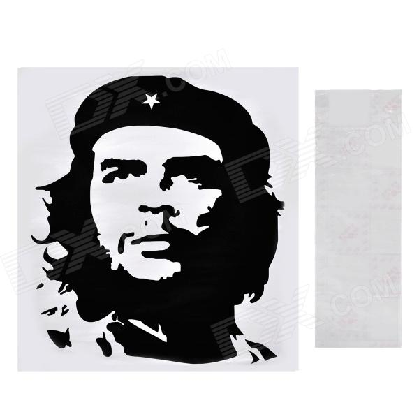 Aomei Che Guevara Pattern Home Wall Decoration PVC Paper Sticker - Black (40 x 35cm) aomei 0215 sea horse pattern pvc wall sticker black