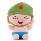 04 Funny Artillery Plush Toy - Green + Pink + Blue