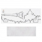 Aomei Simple Paris City Scenery Pattern Home Wall Decoration PVC Paper Sticker - Black (100 x 38cm)