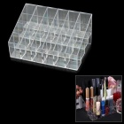24-Compartment Lipstick / Lip Gloss / Mascara Storage / Display Case Halter - Transparent