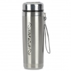 XINFA 0882 Outdoor Stainless Steel + PP Warmer Cup w/ Strap - Silver + Black + Golden (380mL)