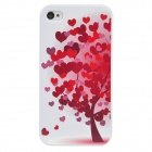 Colorfilm Relief Autumn Themed Protective Plastic Back Case for Iphone 4 / 4S - White